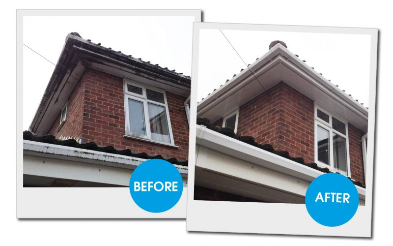 Before And After Gutter Force Ltd